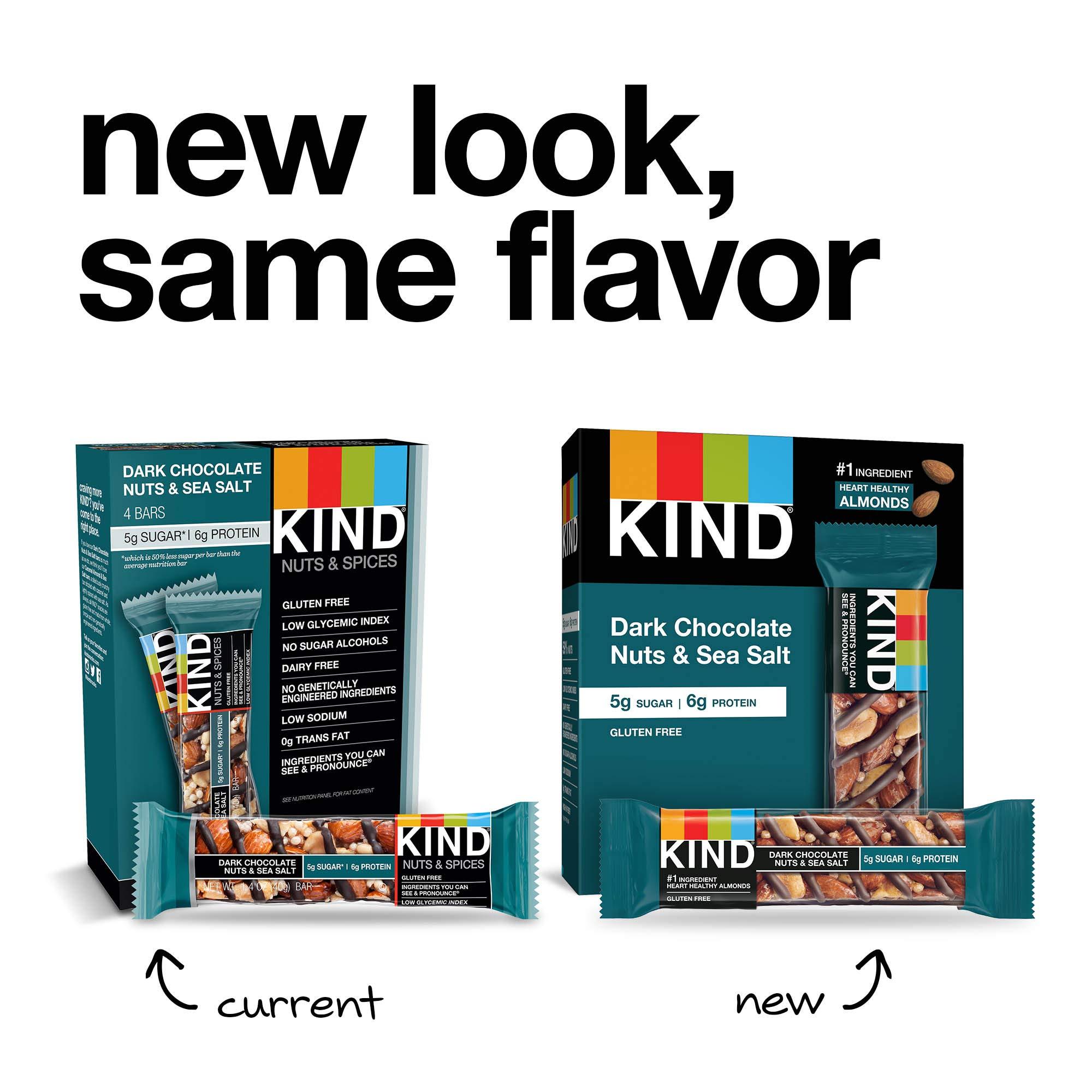 KIND Bars, Dark Chocolate Nuts & Sea Salt, Gluten Free, Low Sugar, 1.4oz, 48 Count by KIND (Image #5)