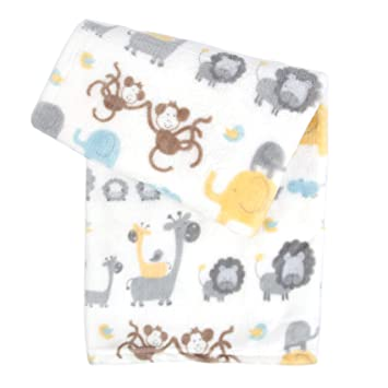 Yellow and Grey Elephant Super Soft Minky Baby Blanket-Storage Bin-Personalized-Custom-Sherpa
