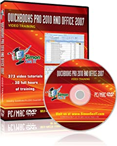 Quickbooks Pro 2010 and Microsoft Office 2007 Training DVD - 30 Hours of Video Training Tutorials for QuickBooks Pro 2010, Excel, Word, PowerPoint, Outlook, and Access 2007 by Simon Sez IT