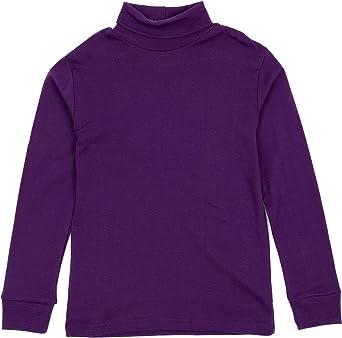 Leveret Kids Cotton Turtleneck Dark Purple 4 Year