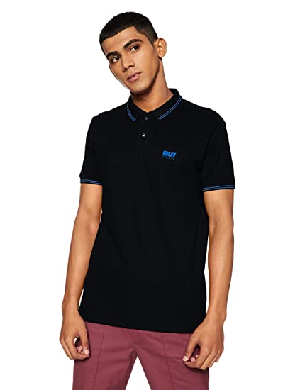 Beat London by Pepe Jeans Men's Solid Regular Fit T Shirt