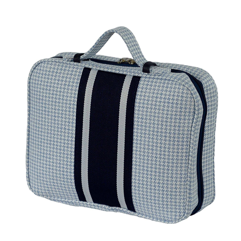 Bellemonde Hanging Toiletry Bag Travel Kit for Men and Women | Washable, Stain-resistant | Timeless Design Toiletry Organizer, Makeup Bag, Cosmetic Bag | Packs Flat 12'' x 10'' x 3.5'' | BL178PB Blue by Bellemonde (Image #1)