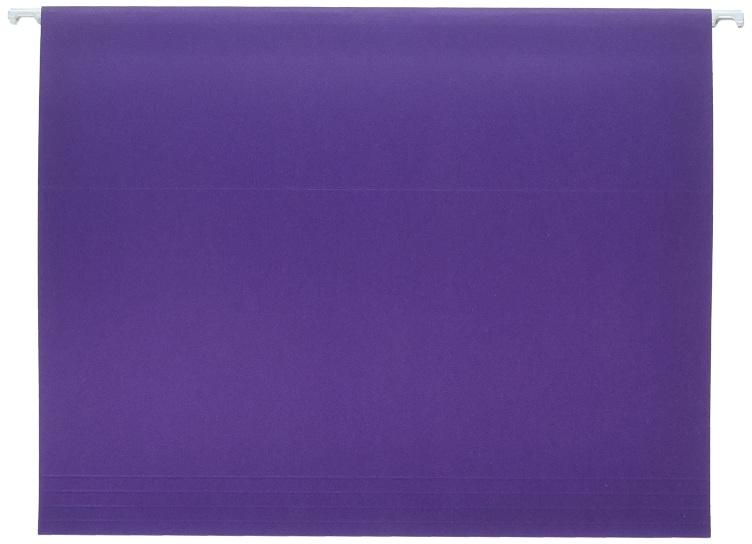 School Smart Letter Size Hanging File Folders with 1/5 Cut Tab - Pack of 25 - Purple School Specialty 085112