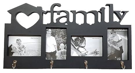 Amazon.com: Familia Amor Photo Collage perchero   4-Slot ...