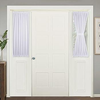 Amazon Com Ryb Home French Door Window Curtain Sheer