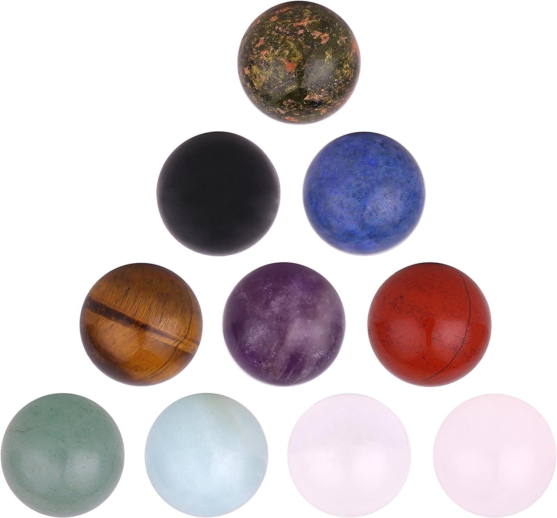 Morella 10 cuentas de gemas de 16 mm ∅ Cuentas de chakra para los colgantes del collar en la bolsa de la joyería