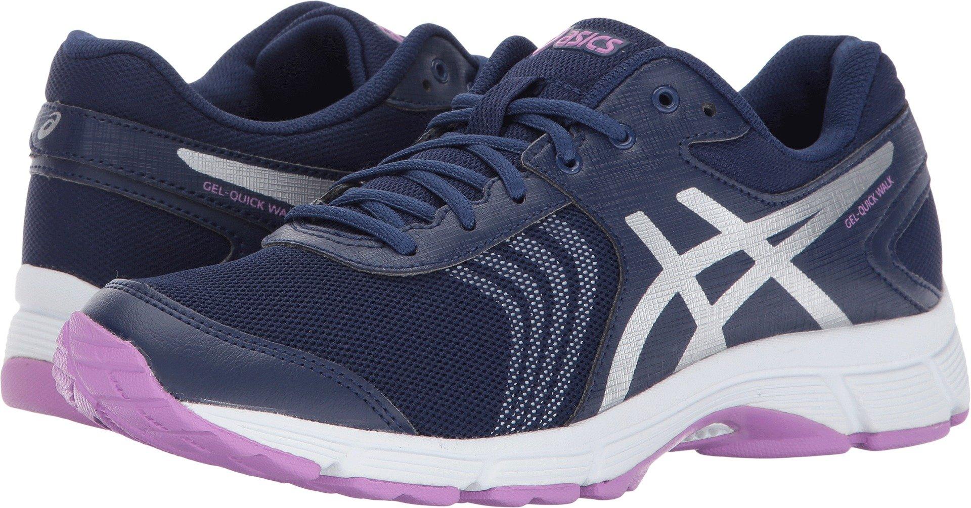 ASICS Women's Gel-Quickwalk 3 Walking Shoe, Indigo Blue/Silver/Violet, 8 Medium US