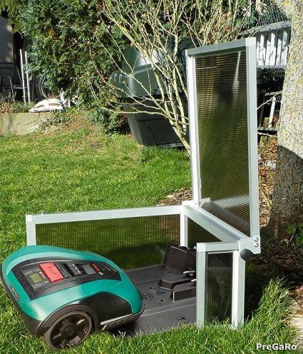 pregaro Robot cortacésped Garage PG350/400 con techo abatible (especialmente diseñado para Bosch®