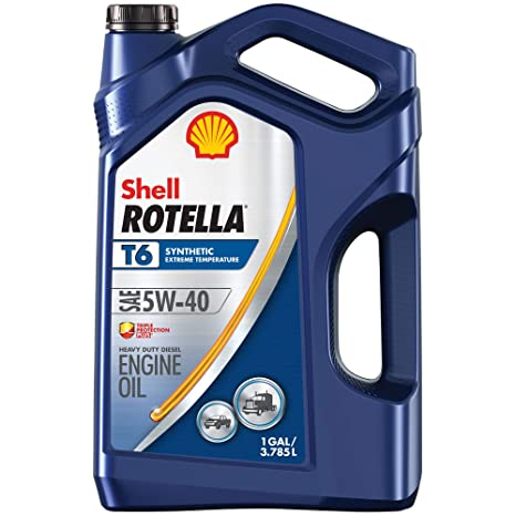 Shell Rotella T6 Full Synthetic 5W-40 Diesel Motor Oil (1-Gallon, Single-Pack)