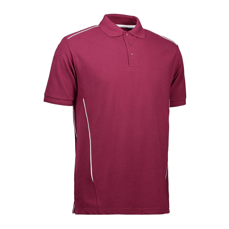 ID - Polo Deportivo Pro Wear con Ribetes para Hombre Caballero (XS ...