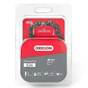 Oregon S34 AdvanceCut 8-Inch Semi Chisel Chainsaw Chain Fits Troy-Bilt