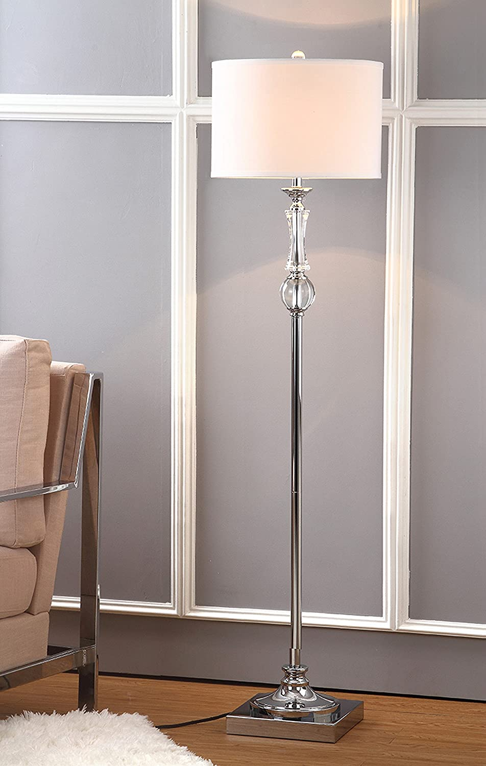 Safavieh Lighting Collection Canterbury Clear 60.25-inch Floor Lamp