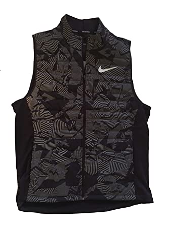 42842059e985 NIKE Running Men s Flash Reflective Full Zip Vest Gilet Jacket (Large