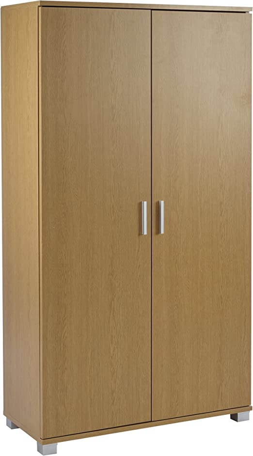 Amazon Com Tall 2 Door Storage Cupboard Bookcase Pantry Cabinet