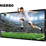 "Écran de Projection, NIERBO 227X132cm Rétractable Ecran de projection , Portable, Piable,Ecran de projection pour Home Cinema, Ecran de projection pour videoprojecteur, Ecran de projection 3D, Ecran de HD TV, Écran de Projection en toile pliable(100"")"