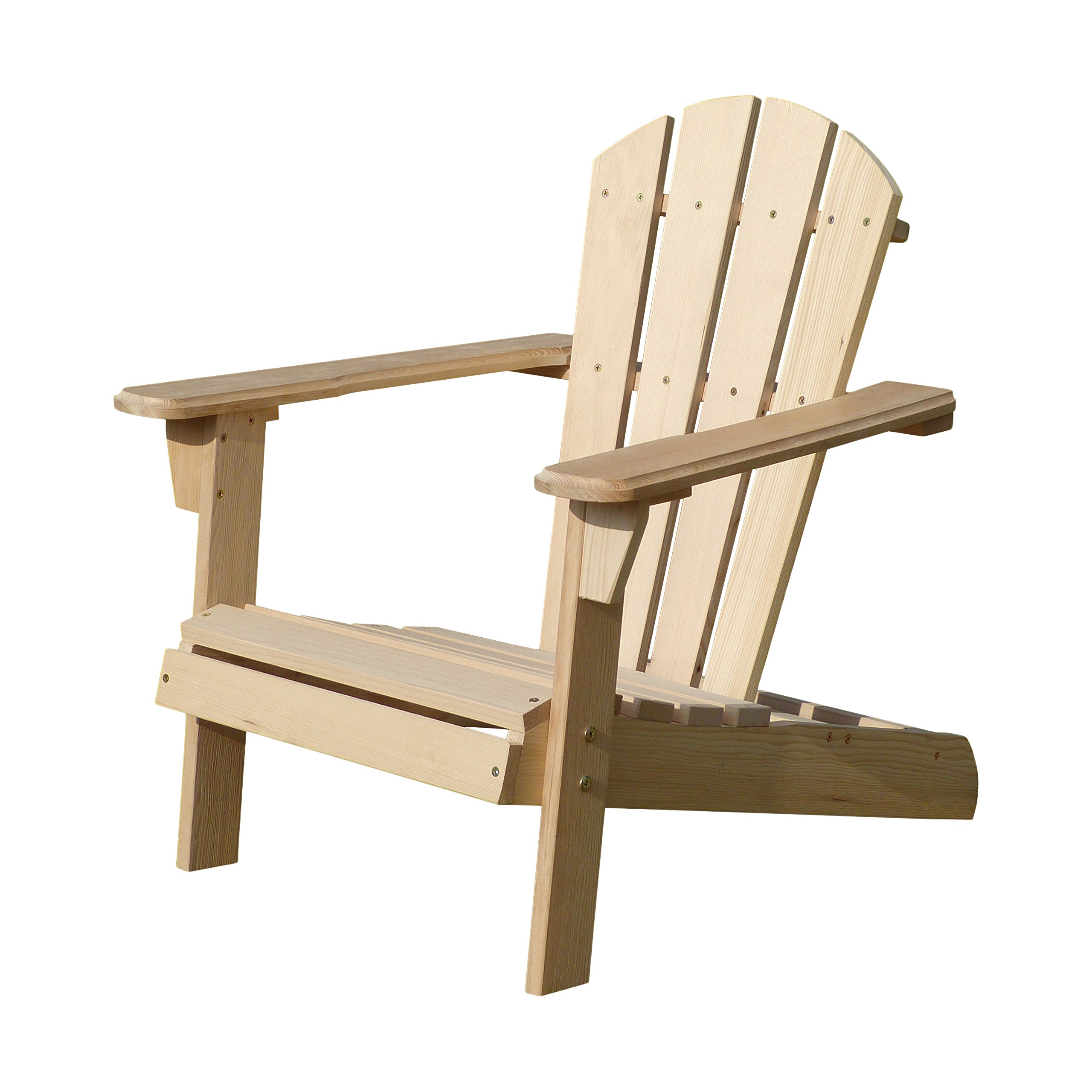 Merry Garden Kids Foldable Wooden Adirondack Chair, Children's Outdoor Patio Furniture, Garden, Lawn, Deck Chair, Unfinished