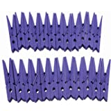 "Derker Wood Craft Clothespins ,Bright Colored Clothes Pegs Pins - 24 Piece (2.9"") (Purple)"