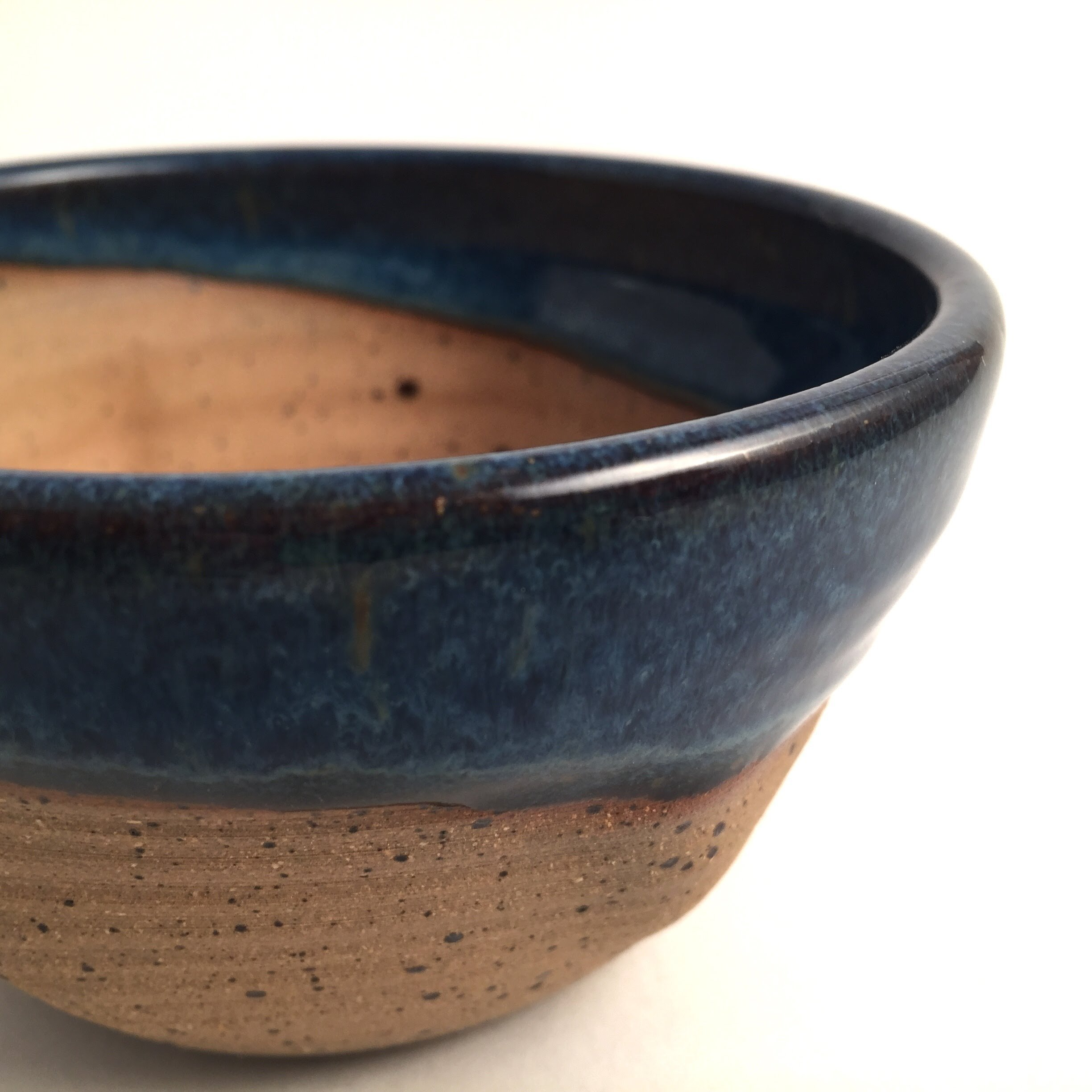 Best Grip and Lather Shave Bowl - Blue Handmade Pottery