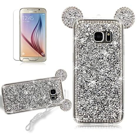 Amazon.com : Girlyard for Samsung Galaxy S7 Edge Bling Shiny ...