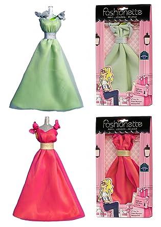 Fashionette Paris 2 Fashion Dresses - Gala dress + Prom dress - to fit Barbie By