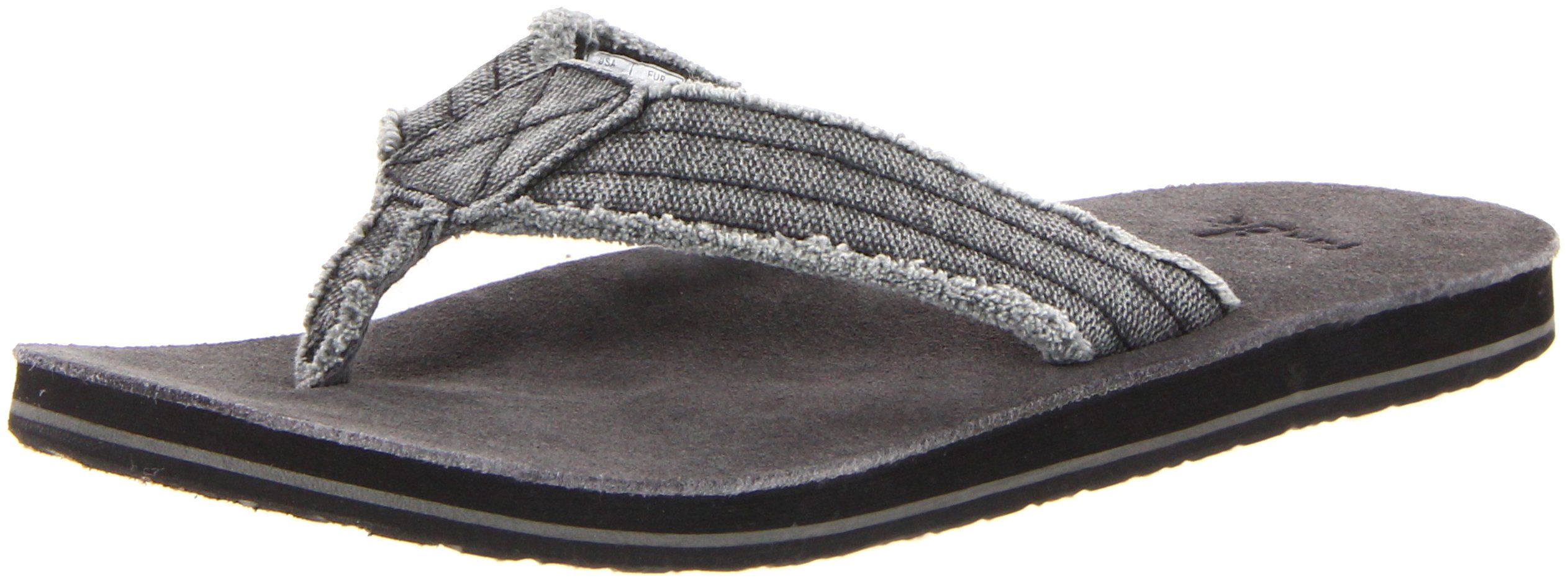 Sanuk Men's Fraid Not Flip FlopCharcoal 11 M US