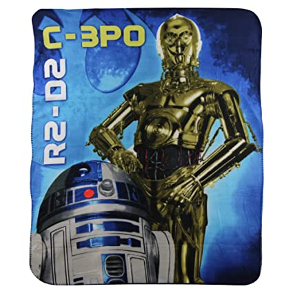 Amazon SL Home Fashions Star Wars C40PO R40D40 Kids Adorable Sl Home Fashions Throw Blanket