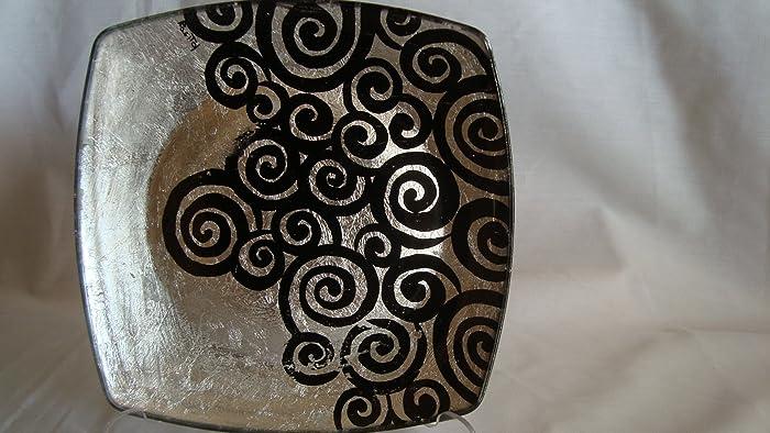 Piattino con foglia d\'argento: Amazon.it: Handmade