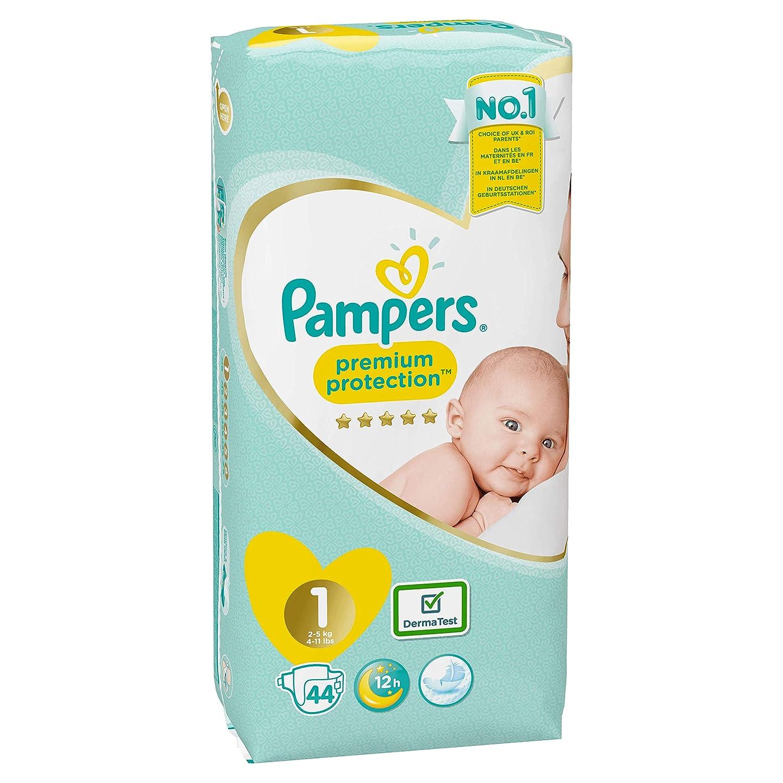 Pampers New Baby - Pañales, Tamaño 1 (2-5 kg), Pack de 2 x 44 (88 Pañales)
