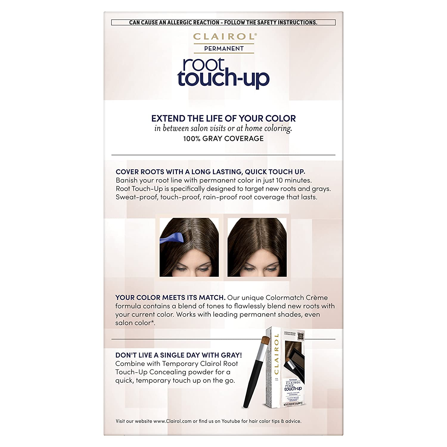 Amazon.com: Clairol Permanent Root Touch-Up, Black [2], 1 ea (Pack ...