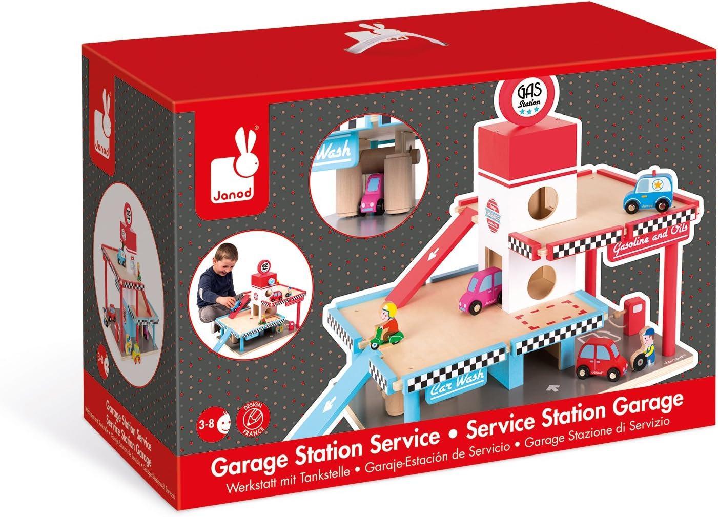 Janod J05715 Wooden Garage Parking