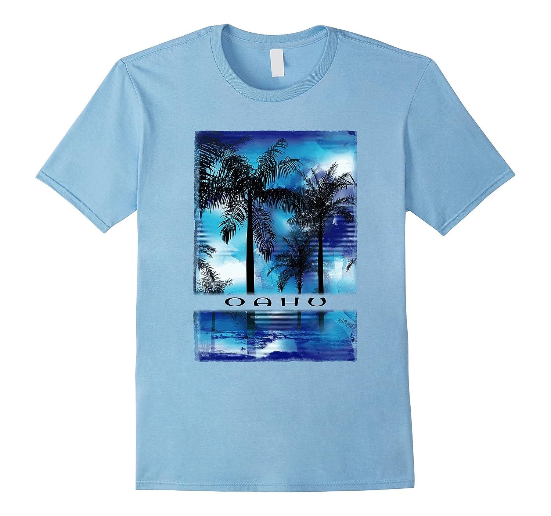 Oahu T Shirt Retro Waikiki Beach Hawaii Adults Kids Apparel-T-Shirt