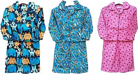 Bebé Niños Niñas 6 – 12 12 – 18 18 – 24 Mes cálido pijamas franela Winceyette pijama monsters Talla:6-12 meses