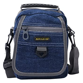 d24d5a136592 Denium Sling Bag with three compartment and Adjustable Strap  Amazon.in   Bags