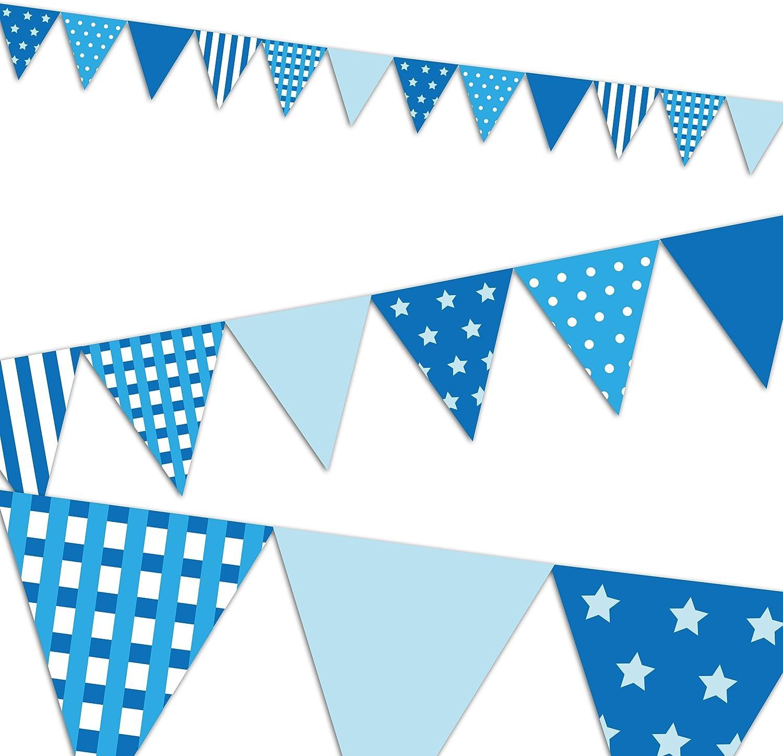EuroFiestas Guirnalda banderines Azules: Amazon.es: Hogar