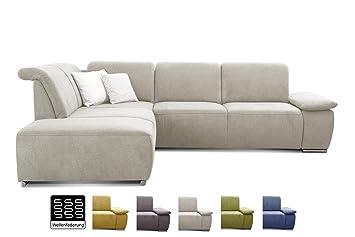 Cavadore Ecksofa Tabagos Grosse Couch Mit Ottomane Links Modernes