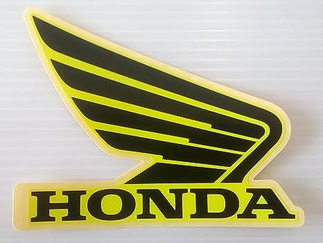 Honda Ali carburante serbatoio Gas Serbatoio Adesivi Decalcomanie 2/x 95/mm nero e giallo limone ghiaccio giallo sinistra e destra 100/% Genuine colore