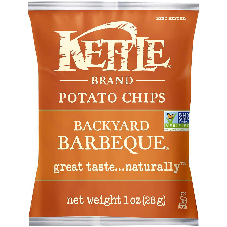 amazon com kettle brand potato chips backyard barbeque 1 ounce