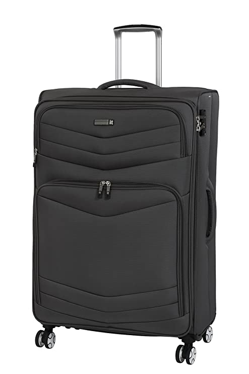 b1494833e it luggage 3 Piece Set of Intrepid 8 Wheel Lightweight Semi Expander  Suitcases with TSA Lock Suitcase, 80 cm, 272 liters, Dark Gull Grey: Amazon.co.uk:  ...