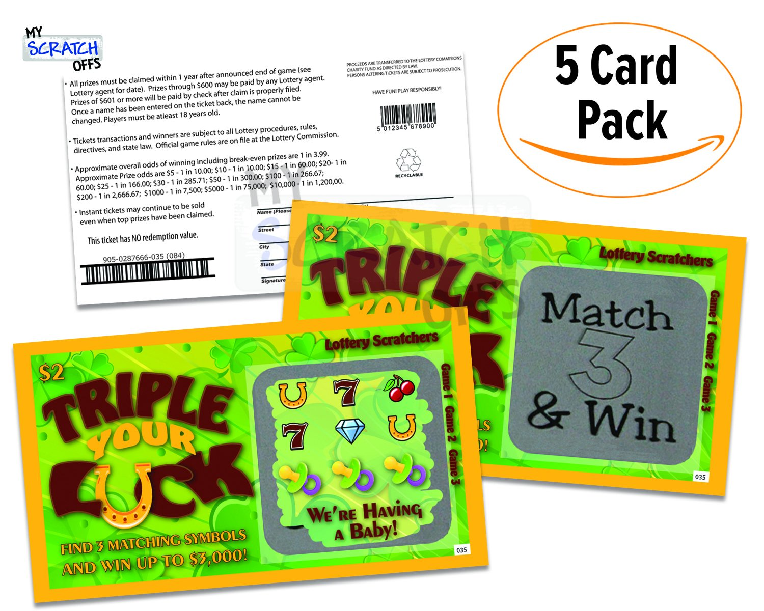 FAKE LOTTERY SCRATCH CARDS AMAZON