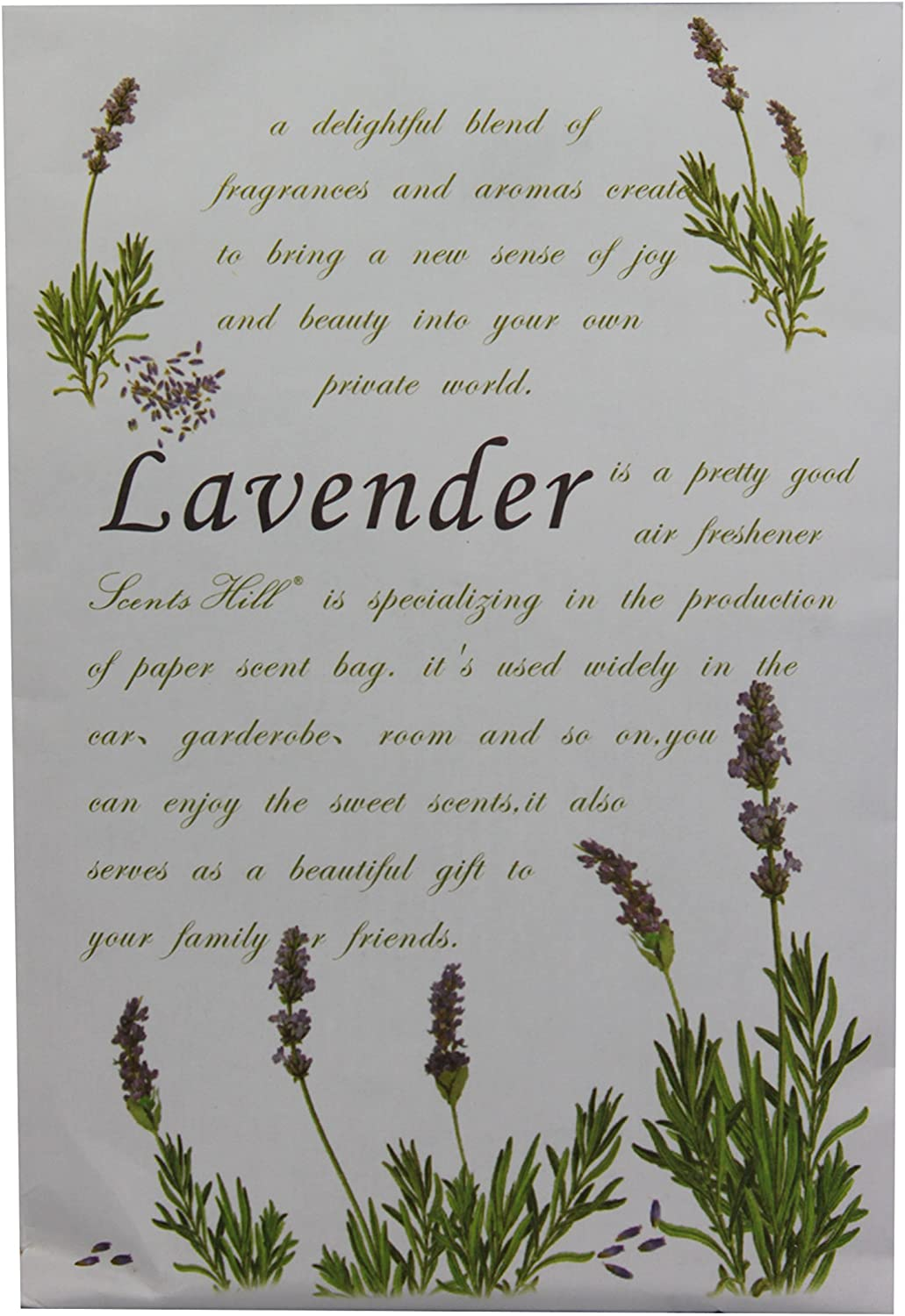 Feel Fragrance Scent Sachets for Drawer and Closet,Lot of 4(Lavender)