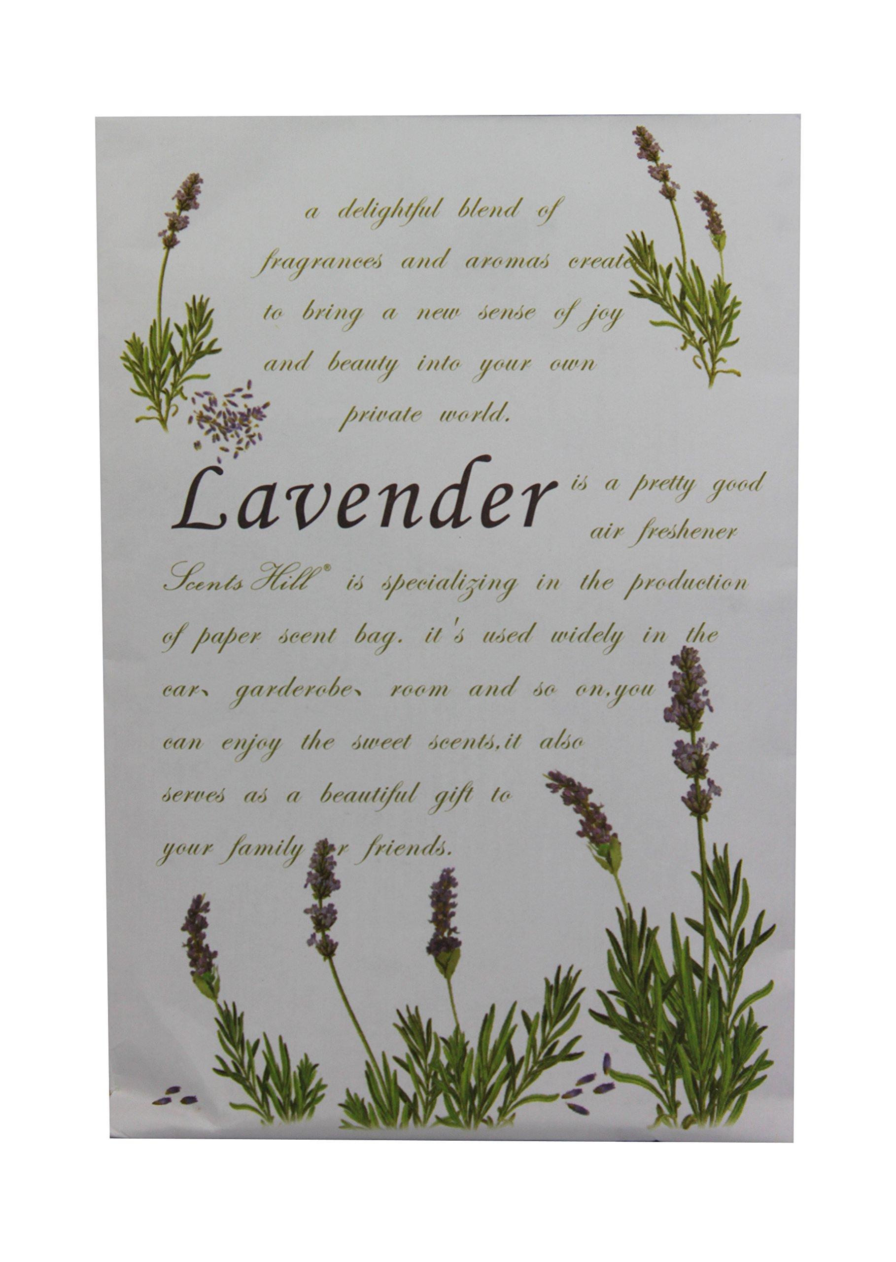 Feel Fragrance Scented Sachet for Closet,Lot of 8 (Lavender) by Scents Hill
