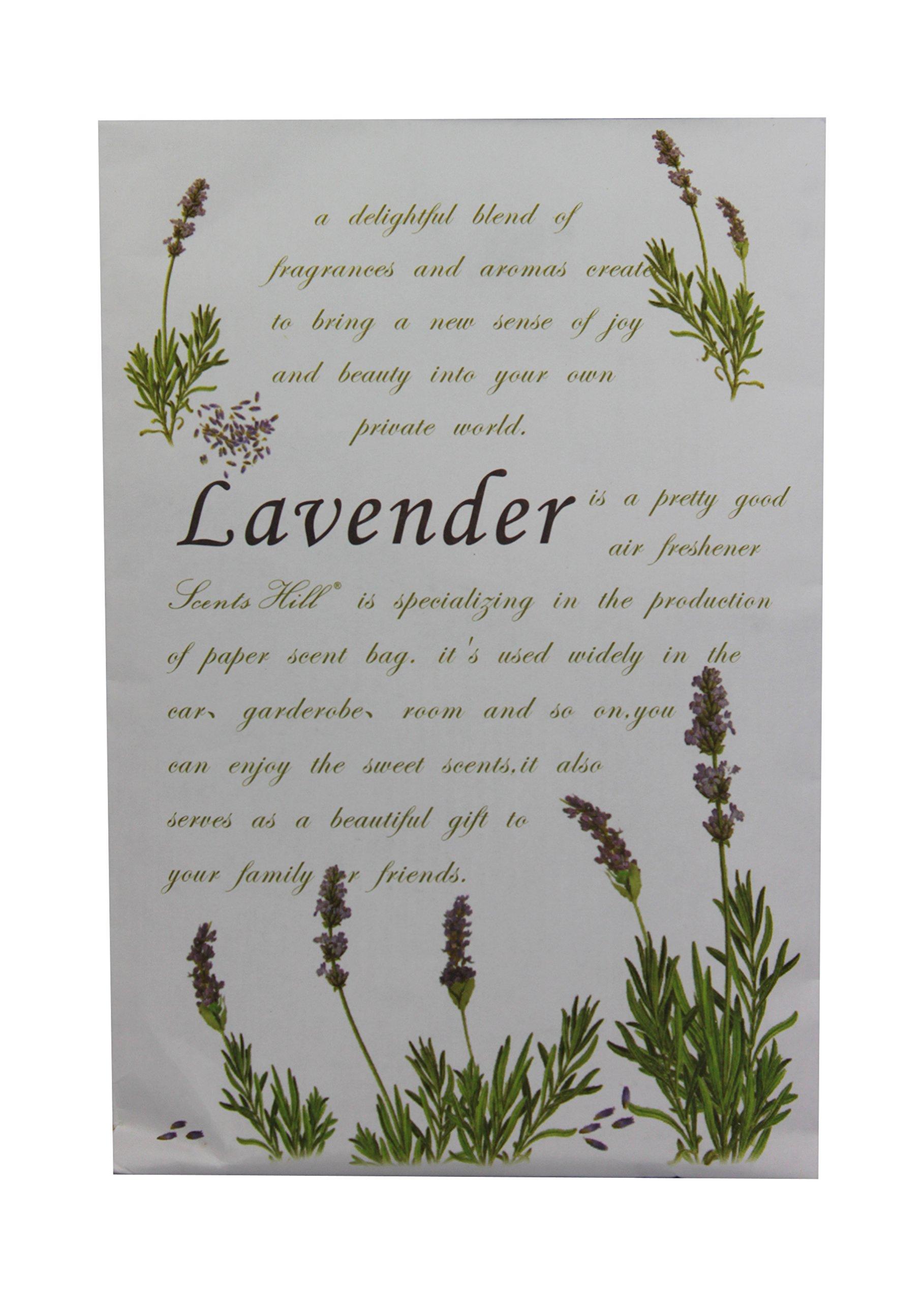 Feel Fragrance Scented Sachet for Closet,Lot of 8 (Lavender)