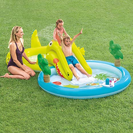 INTEX Gator Play Center - Piscina Infantil con tobogán: Amazon.es ...