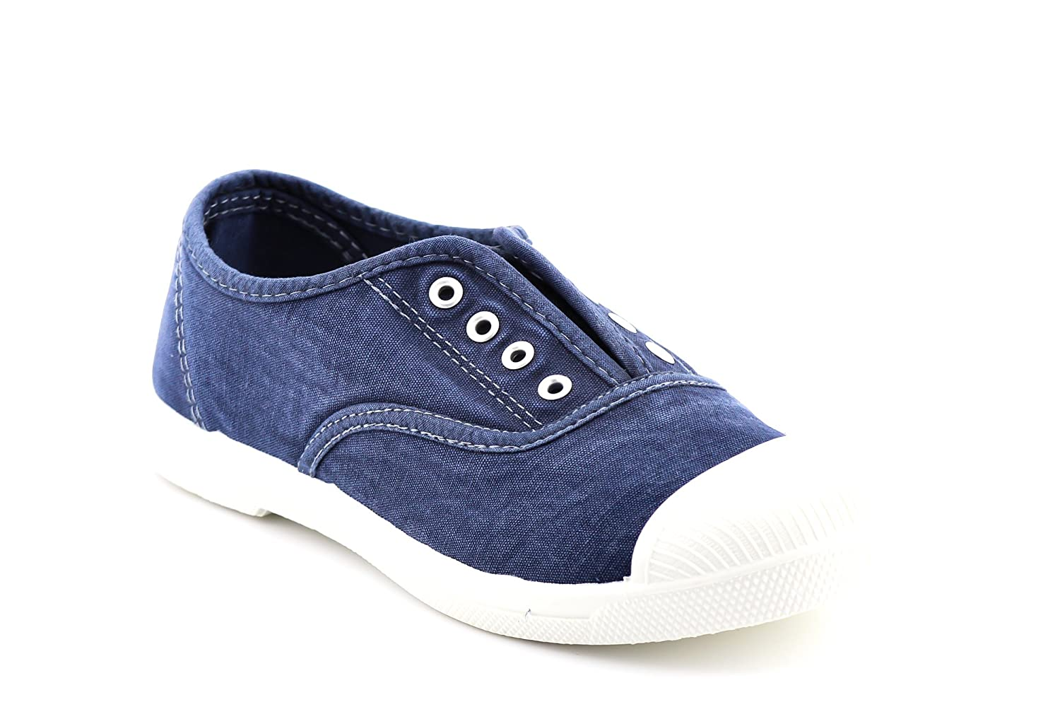CALICO KIKI Women's Washed Laceless Slip-on Sneakers - Cushioned Soft Laceless Comfort Flat Shoes B07C7P74Z9 10 B(M) US|Navy