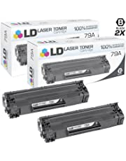 LD Compatible Replacement for HP 79A/CF279A Set of 2 Black Toner Cartridges for use in Laserjet Pro M12a M12w MFP M26a and MFP M26nw (1000 Page Yield)