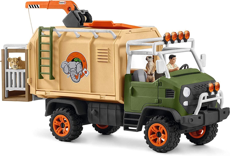 42475 Schleich Vie Sauvage Animal Rescue gros camion avec personnages /& accessoires