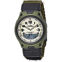 Casio Mens Quartz Watch, Analog Display and PU Strap AW-80V-3BVDF