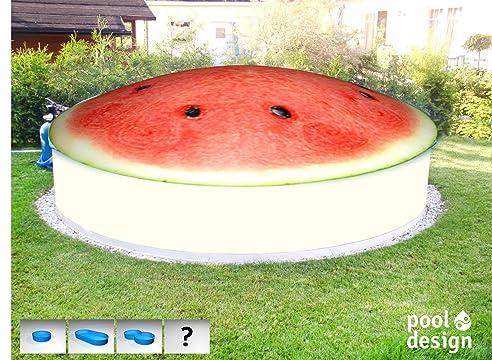 aufblasbare poolabdeckung melone rund bedruckt a 25 m