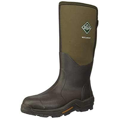 Muck Boot Men's Wetland Wide Calf Snow Boot, Brown, 8 Medium Shaft US: Shoes