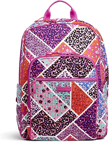 Vera Bradley Women's Signature Cotton Deluxe Campus Backpack, Modern Medley